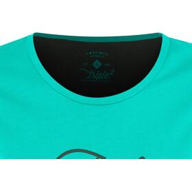 Triple2 Laag Handwrite T-Shirt Women Lapis